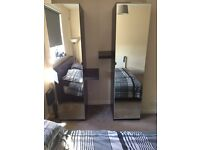 IKEA Pax mirrored wardrobes