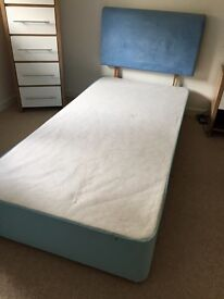 Kids 6ft single bed base and headboard