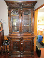 Mid 1870's Oak Carved Masterpiece from Denmark