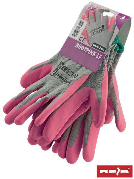 3 Paar Gartenhandschuhe Handschuhe Damen Größe: 6 - 7 - 8 - 9 ROSA LATEX