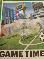 Bubble soccer awesome fun! Book it!