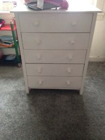 Painted White drawers