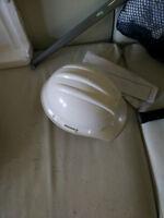 White hard hat