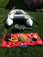 Westmarine 8' Inflatable with 4hp Evinrude Motor