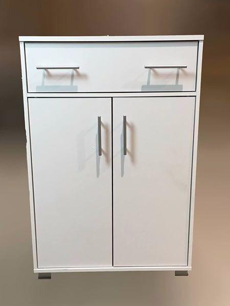 Matt White 1 Drawer 2 Door Cupboard / Sideboard