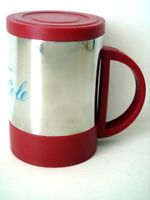Stainless Steel Mug with Lid - Red