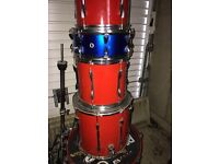 Full professional drum kit including all drums