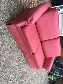 3 SEATER RED SOFA BED