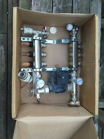 Manifold used in good working condition with pump.
