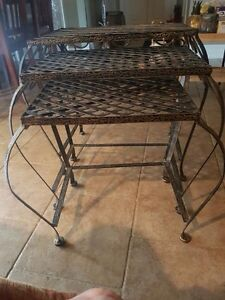 Metal nesting tables for sale - from pier 1 imports