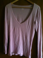 Lilac Long Sleev Cotton Top *like NEW* (size M)