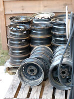 Used Steel Rims - 15, 16 and 17 inch