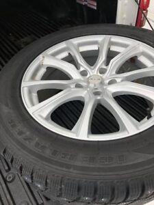 STUDDED SNOW TIRES AND RIMS