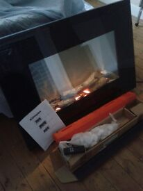 Dimplex SP9 flame effect, log or pebble wall fire