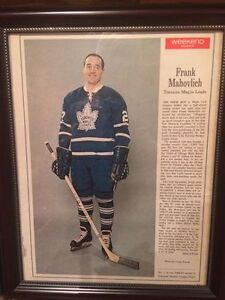 1966 Large Framed Toronto Maple Leafs Frank Mahovlich #27