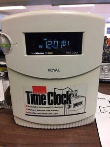 Royal Time Master TC100 Time Clock