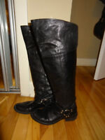 Black knee high boots size 37 from BROWNS