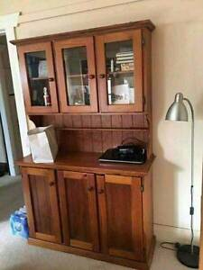 Solid timber display cabinet & dressing table free delivery Narwee Canterbury Area Preview