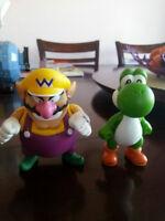 figurine Mario, Yoshi,Luigi,Wario, Toad, Donkey Kong