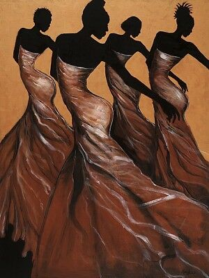 Flow by Monica Stewart African American Art, Print 24x34