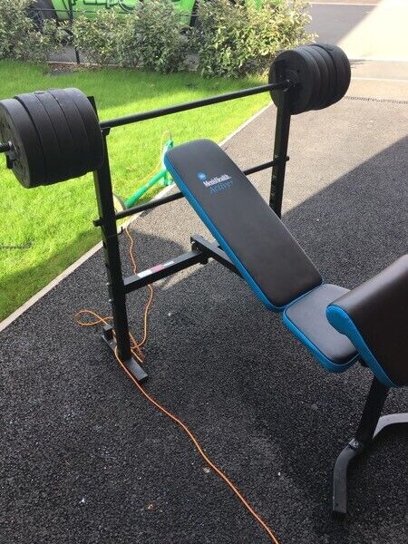Adjustable bench press + 100kg of weights | in Stoke-on-Trent,  Staffordshire | Gumtree