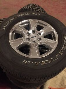 Brand new 18 chrome rims and tires