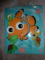 Set of 6 Disney Pixar Bag and Boxes (3 of each with tisssue)