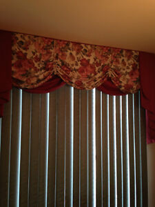 Custom Made Valance with Patio Blinds