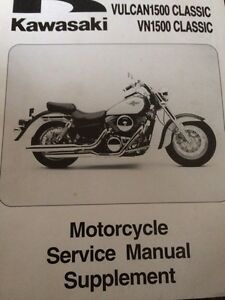 1998 Kawasaki Vulcan 1500 Service Manual Supplement