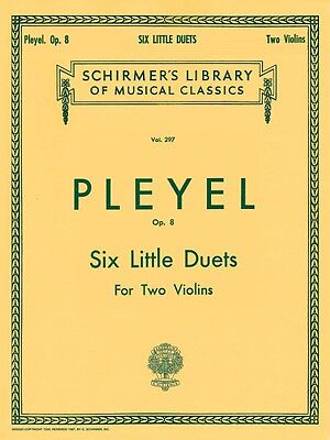 Six Little Duets Op. 8 Violin G Schirmer String Ensemble NEW