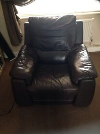 Dfs leather electric recliner