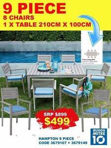 OUTDOOR 9 PCE SETTING PREMIUM QUALITY CLEARANCE SAVE $400 Bundall Gold Coast City Preview