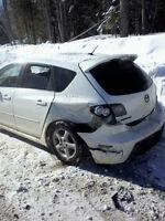 Wrecked 2008 Mazda MAZDASPEED3 Turbocharged Hatchback