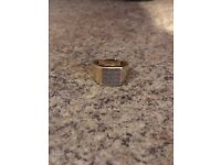 Men's 9ct solid gold ring