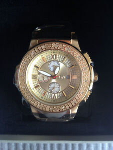 NEW JBW Saxon Men's Diamond Studded Watch