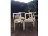 Wooden painted kitchen chairs