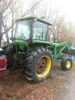 John Deere 4030 and 146 Front End Loader