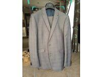 Light Grey Check Suit