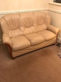 Genuine Italian leather settee/sofa/couch