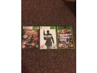 Dead island, Call of Duty MW3 and Grand theft auto 4 for Xbox 360