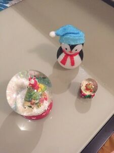 Christmas decorations (snow globes and penguin Waverton North Sydney Area Preview