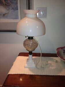 Antique lamp and parts