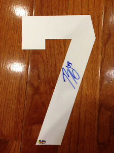 Brendan Gallagher autographed (white) number (Montreal Canadiens