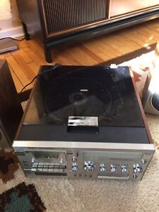 Vintage Yorx Stereo System Record Player + Speakers!