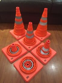 Pop up traffic cones / safety equipment