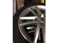 Seat Leon fr alloys with tyres