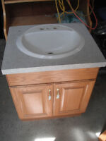 Oak Vanity and Mirror for sale $80.00