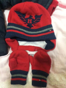 Tommy Hilfiger coat, hat and mittens