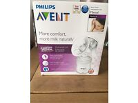 Never used Philips Avent manual breast pump