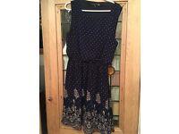 Mela Love London Midnight blue dress, size 12.